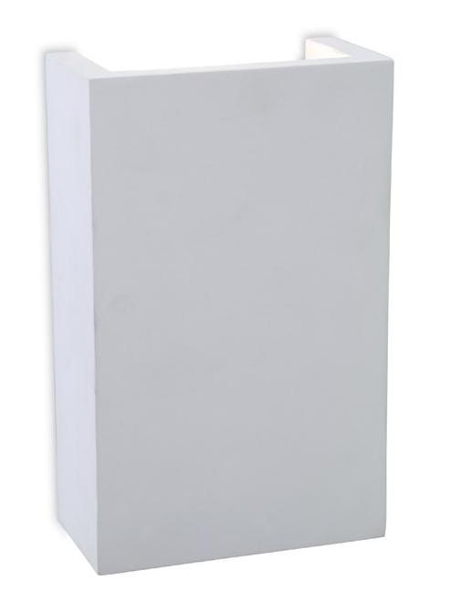 Gallery Square Plaster LED Wall Uplighter - Firstlight Lighting