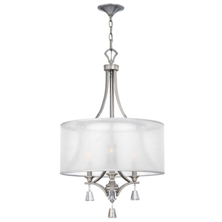 Elstead mime 3 light chandelier hkmime3p elstead lighting mime 3 light chandelier hinkley lighting aloadofball Image collections