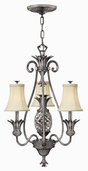 Elstead Plantation 4 Light Pendant Polished Antique Nickel