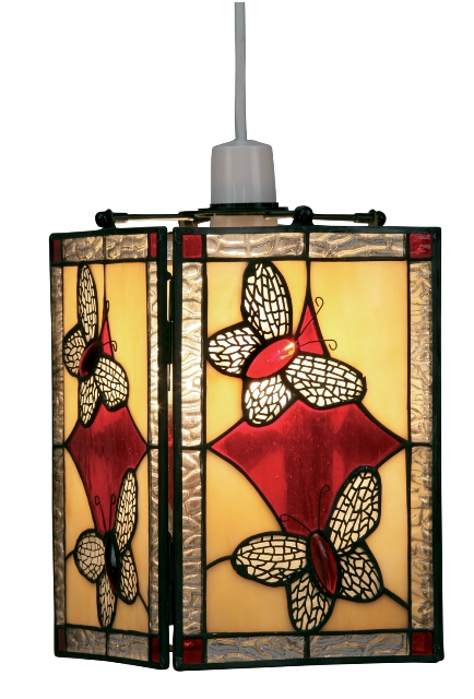 Oaks Red Butterfly Tiffany Lamp Shade