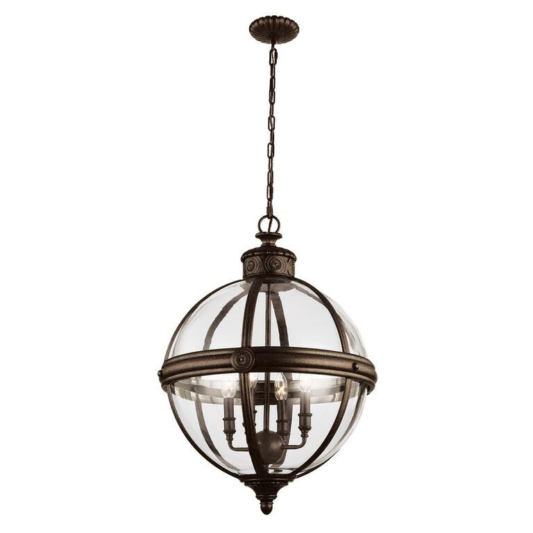 Elstead Adams British Bronze Large Interior Lantern | FE/ADAMS/4P BRZ | Feiss Lighting | Elstead Lighting