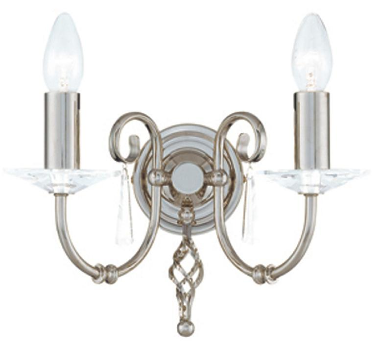 Elstead Aegean Double Wall Light Polished Nickel | AG2 PN | Luxury Lighting