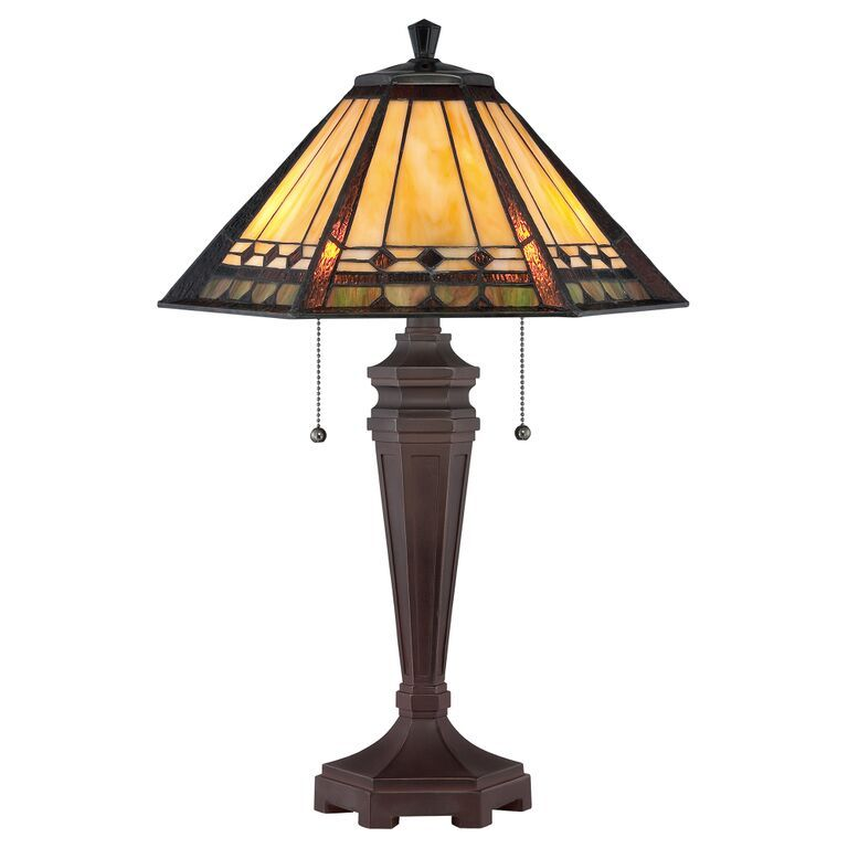 Elstead Arden Tiffany Table Lamp | QZ-ARDEN-TL | Quoizel | KLuxury Lighting
