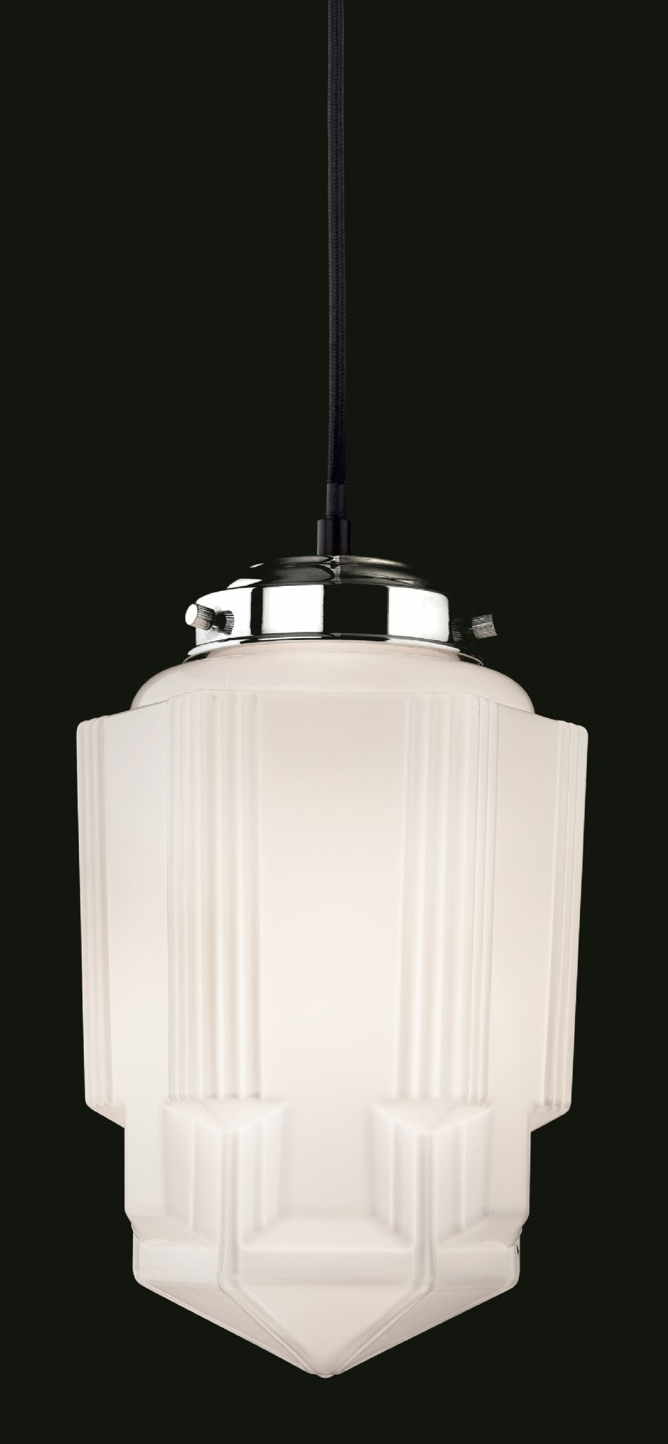 Firstlight Art Deco 4949 Single Light Pendant 4949ch
