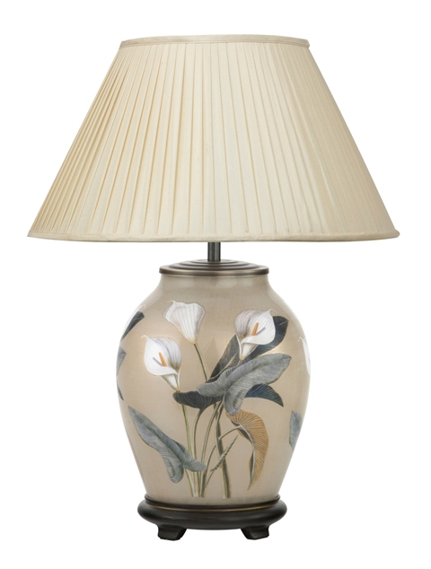 Jenny Worrall Arum Lily Medium Oval Table Lamp with Shade | JW36 | Luxury Lighting