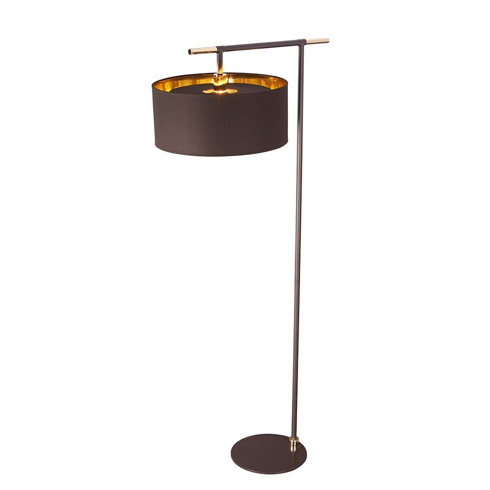 Elstead Balance Brown and Polished Brass Floor Lamp | BALANCE/FL ...