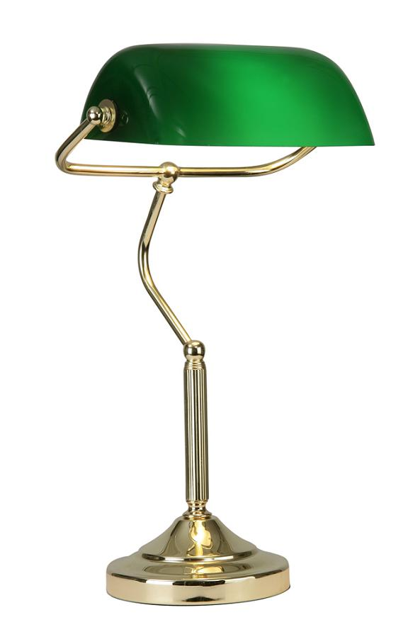 Oaks Bankers Desk Lamp Polished Brass