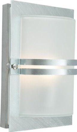 Basel Galvanised Wall Light - Elstead Lighting