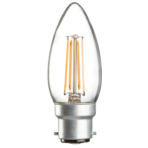 BC B22 Candle LED Light Bulb 4 Watt | Luxury Lighting