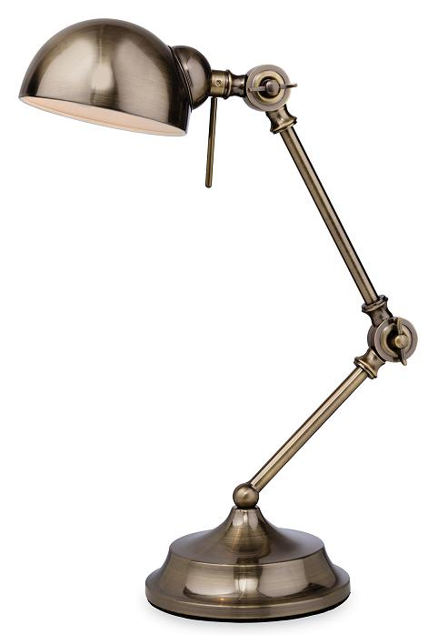 Firstlight Beau Antique Brass Desk Lamp | 2305AB | Luxury Lighting