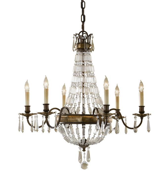 Elstead Bellini 6 Light Chandelier | FE/BELLINI6 | Elstead Lighting | Feiss Lighting | Luxury Lighting