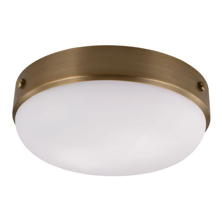 Elstead Cadence Antique Brass Flush Ceiling Light | FE/CADENCE/F DAB | Feiss | Luxury Lighting