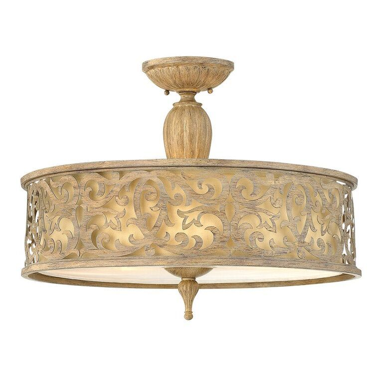 carabel large semiflush ceiling light hinkley lighting