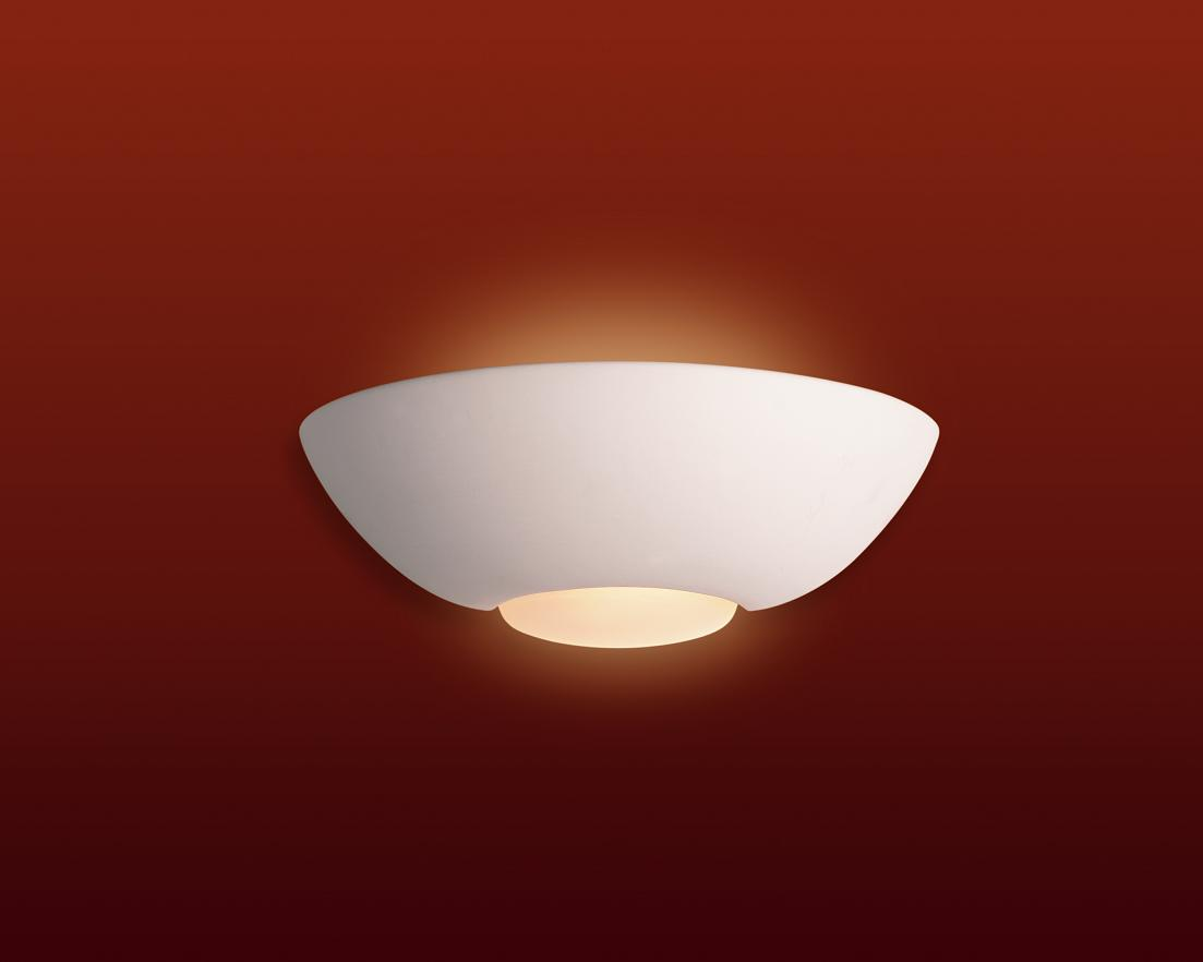 Firstlight Slimline Led Bathroom Wall Light In White: Firstlight C315 Ceramic Wall Uplighter