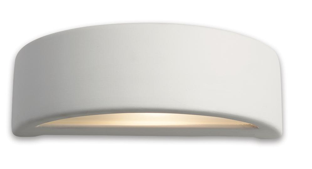Firstlight Slimline Led Bathroom Wall Light In White: Firstlight C346 Ceramic Wall Uplighter