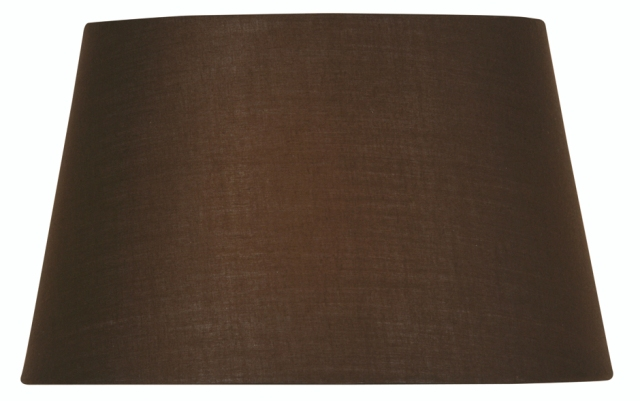Oaks chocolate 16 cotton drum lampshade s90116 co oaks chocolate 16 cotton drum lamp shade oaks lighting aloadofball Gallery