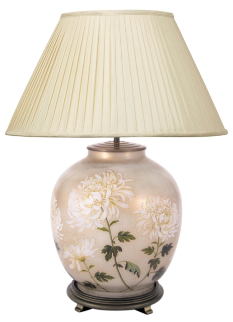 Jenny Worrall Chrysanthemum Large Round Table Lamp With