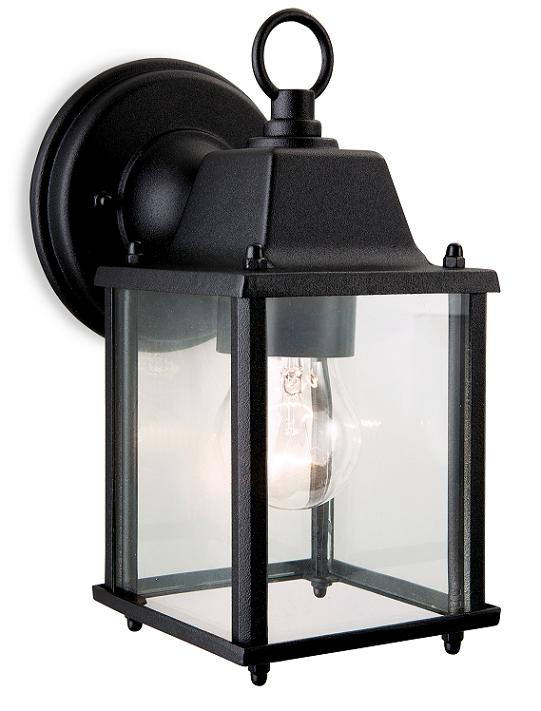 Coach Black Outdoor Wall Lantern   Firstlight Lighting