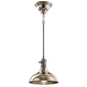 Cobson Polished Nickel Small Single Light Pendant - Kichler Lighting