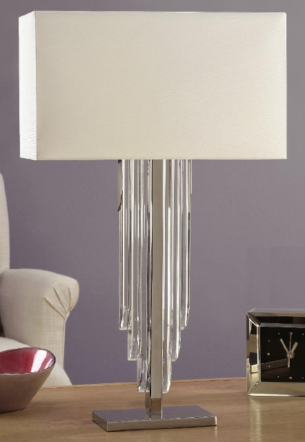 Interiors 1900 Crystal Cascade 63475 Table Lamp with Shade | Luxury Lighting