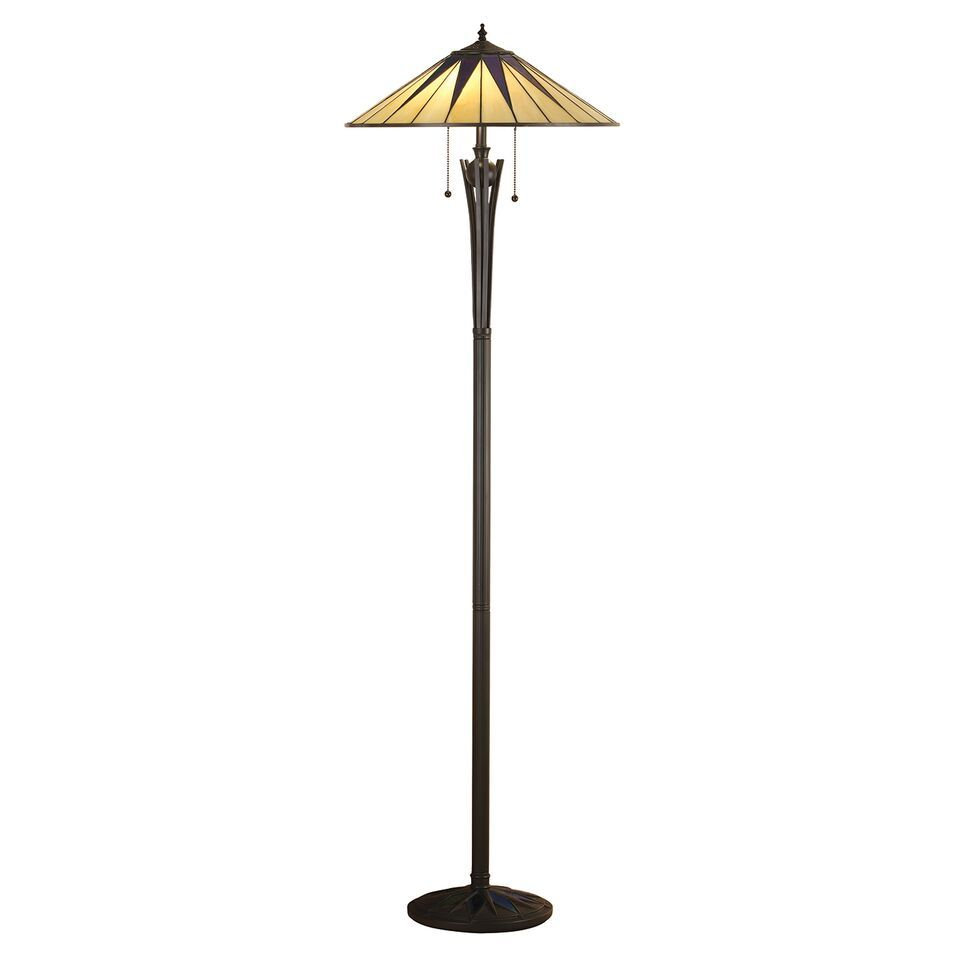 Interiors 1900 Dark Star 64041 Tiffany Floor Lamp | Luxury Lighting