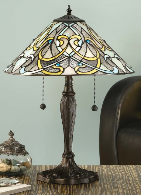Interiors 1900 Dauphine 64055 Tiffany Table Lamp | Luxury Lighting