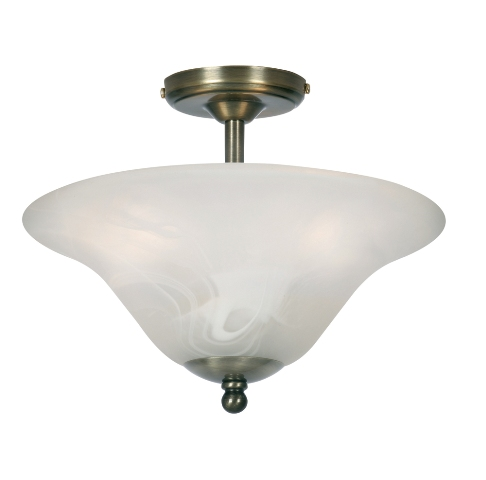 Drop Suspension Antique Brass Small Ceiling Light With Frosted Shade - Oaks Lighting