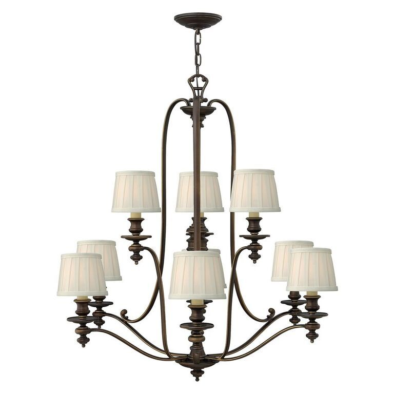 Elstead Dunhill 9 Light Chandelier | HK/DUNHILL9 | Hinkley Lighting | Elstead Lighting