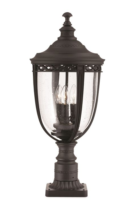 Elstead English Bridle Large Pedestal Lantern Black Fe Eb3 L Blk Elstead Lighting Feiss