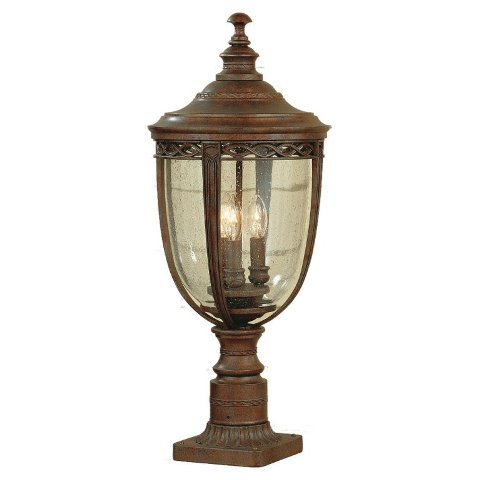 English Bridle Large Bronze Pedestal Lantern - Feiss Lighting