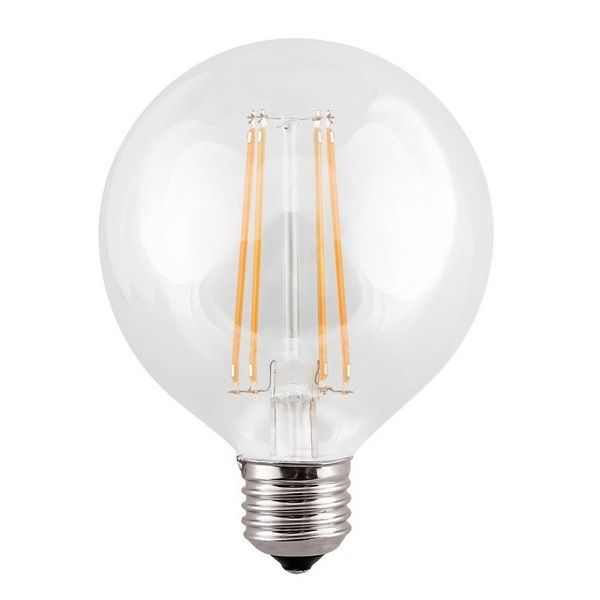 ES E27 G95 Globe Vintage LED Light Bulb Clear 7 Watt | Luxury Lighting