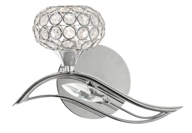Oaks Esmee Chrome Left Wall Light | 3050/1 L CH | Oaks Lighting | Luxury Lighting