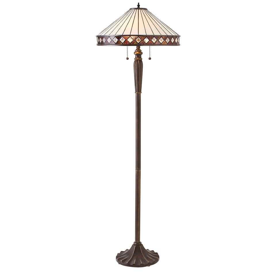 Interiors 1900 Fargo 70936 Tiffany Floor Lamp | Luxury Lighting