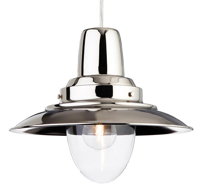 Firstlight fisherman chrome single ceiling light pendant 8645ch fisherman chrome single light pendant firstlight lighting mozeypictures Image collections