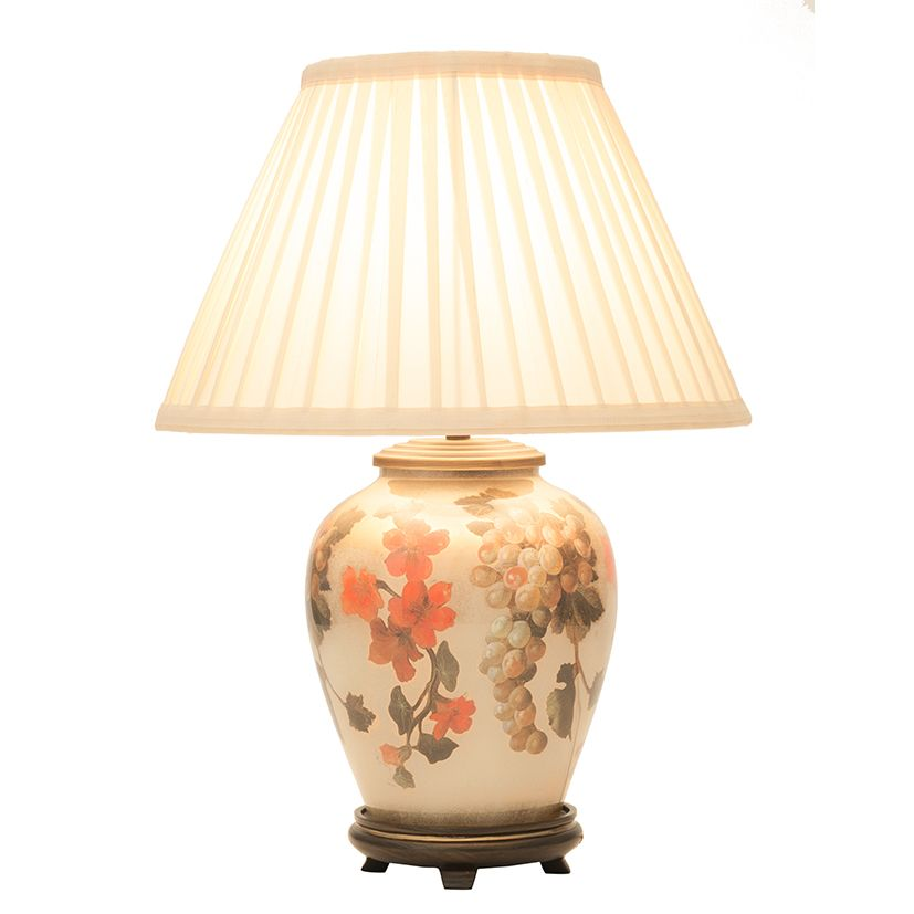 Jenny Worrall Fruit Flower Small Table Lamp With Shade Jw58