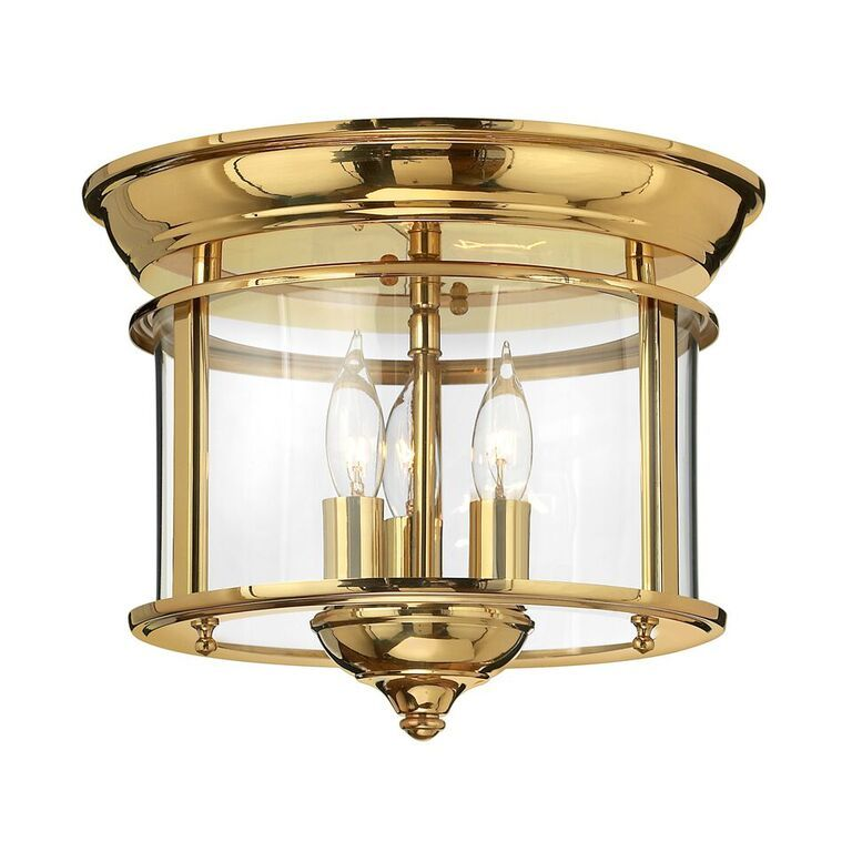 Gentry brass flush interior lantern hinkley lighting