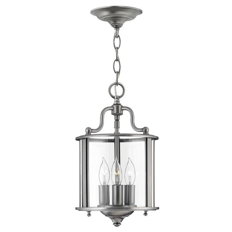 Gentry pewter small interior lantern hinkley lighting