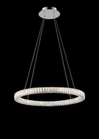 Avivo Halo Large Single Tier Crystal LED Ceiling Light | PD1305-1A | Avivo Lighting | Luxury Lighting