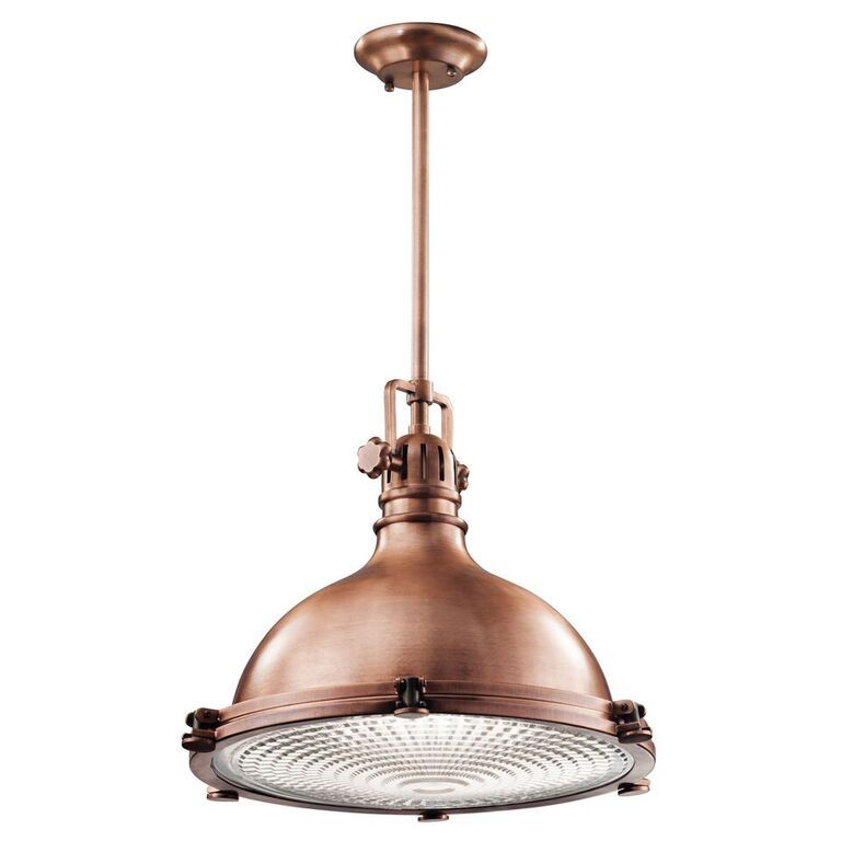 Elstead hatteras bay copper extra large single light pendant kl hatteras bay copper extra large ceiling light pendant kichler lighting aloadofball Gallery
