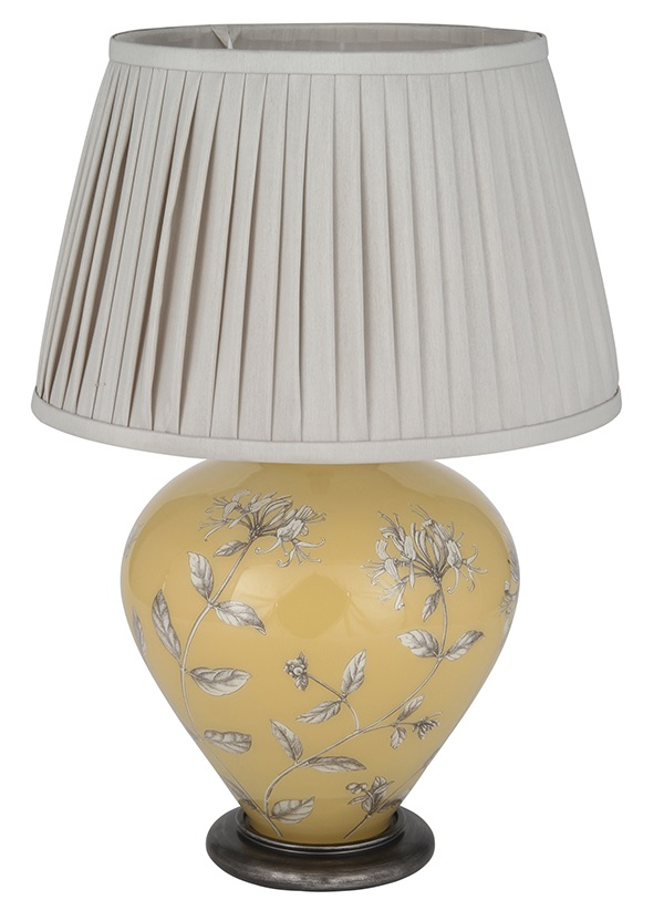 Jenny Worrall Honeysuckle on Print Room Yellow Ginger Jar Table Lamp
