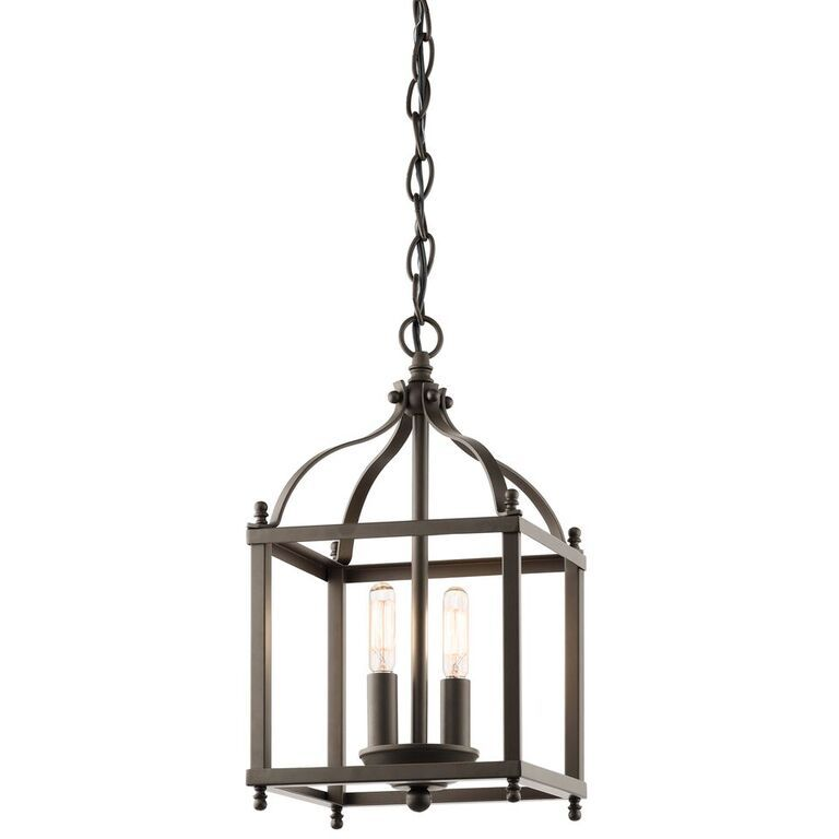interior lantern lighting. Interesting Lighting Larkin Small Bronze Interior Lantern  Kichler Lighting With E