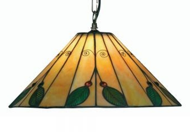 Oaks Leaf Tiffany Ceiling Light Pendant | OT 3020/16 P | Oaks Lighting | Luxury Lighting