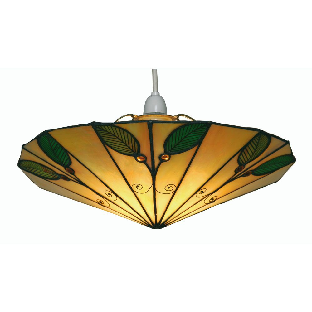 Oaks Leaf Tiffany Lamp Shade | OT 3020 NE | Oaks Lighting | Luxury Lighting