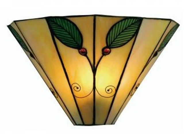 Oaks Leaf Tiffany Wall Light | OT 3020 WB | Oaks Lighting | Luxury Lighting