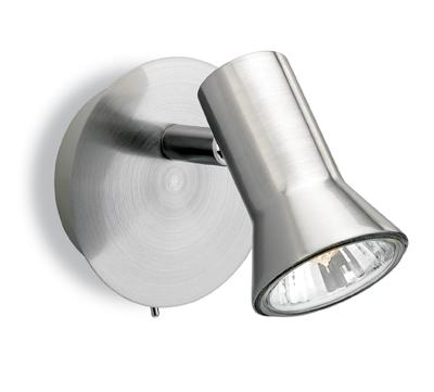 Magnum Brushed Steel Single Spotlight - Firstlight Lighting