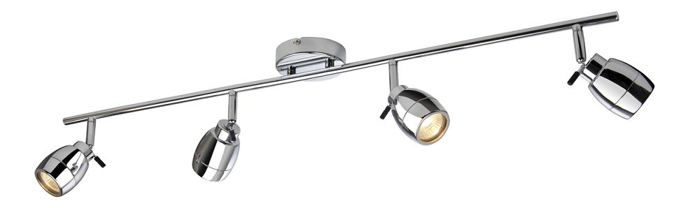 marine chrome 4 spotlight bathroom ceiling bar firstlight lighting