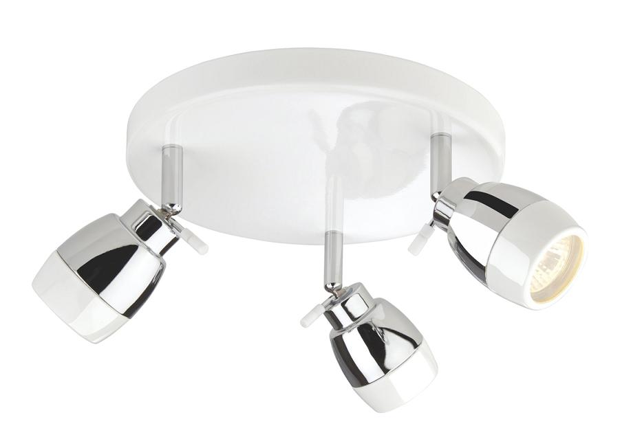 Firstlight Marine 3 Spotlight Bathroom Ceiling Plate White ...