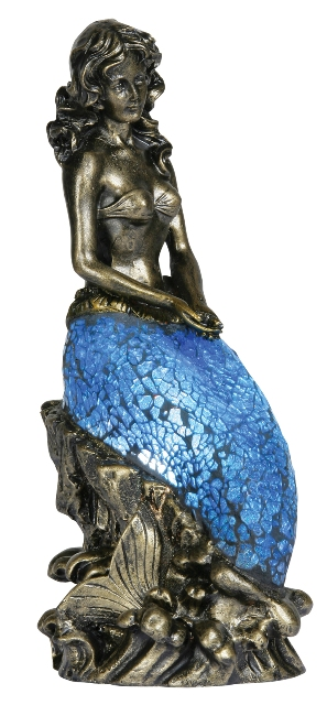 Oaks Mermaid Mosaic Table Lamp 1026 Oaks Lighting