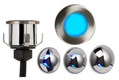 Mini Blue LED Recessed IP65 Light Fitting