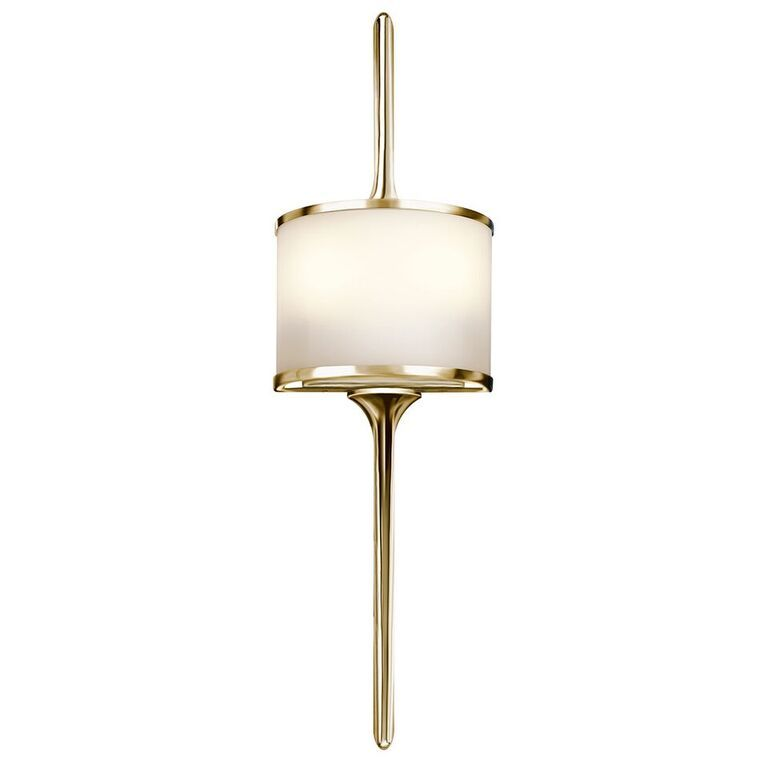 low priced cecc6 c989b Mona Small Polished Brass Wall Light - Kichler Lighting